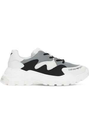 Emporio Armani Leather Lace-up Sneakers