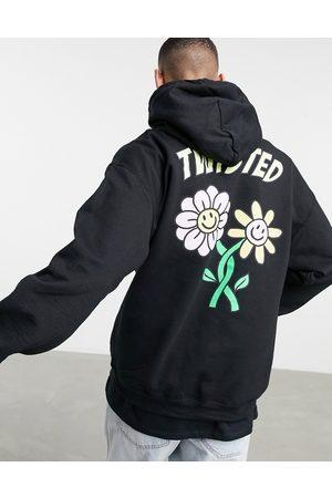 New Love Club Twisted' back print hoodie in