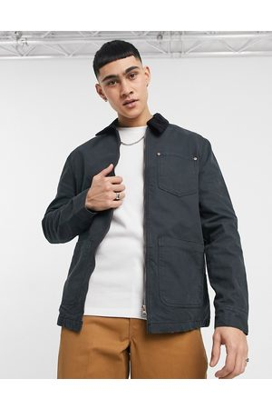 ASOS Canvas barn jacket with cord collar in