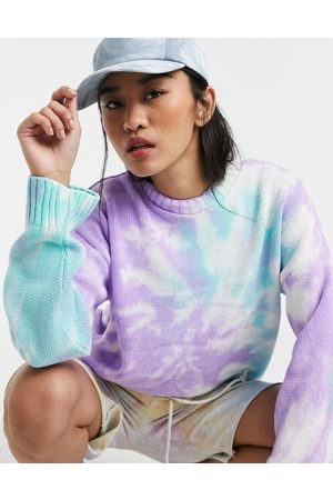 ASOS DESIGN Tie dye sweater in lilac