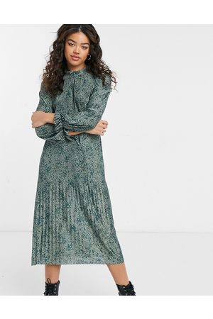 JDY Midi dress with elasticized waist in floral print-Multi
