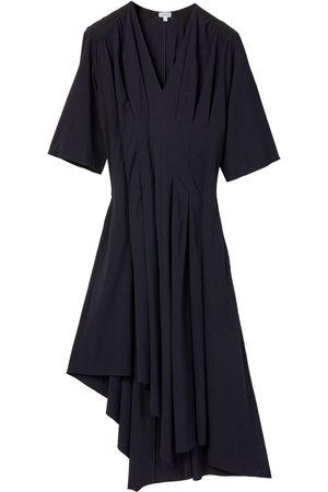 Loewe Asymmetric Pleated Stretch Viscose Dress