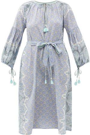 D'ASCOLI Lena Floral-print Silk-crepe Midi Dress - Womens - Multi