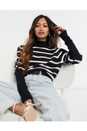 Derek Lam 10 Crosby Elani volume sleeve stripe sweater in