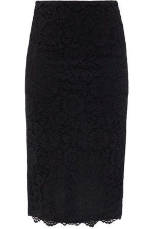 VALENTINO High-rise Cordonnet-lace Pencil Skirt - Womens