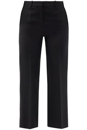 VALENTINO Women Straight Leg Pants - Straight-leg Wool-blend Trousers - Womens