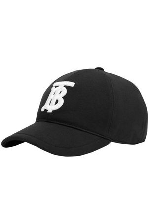 Burberry Men Caps - Logo-embroidered Canvas Baseball Cap - Mens