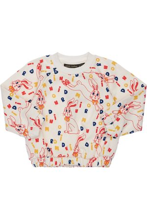 Mini Rodini Rabbit Print Organic Cotton Sweatshirt