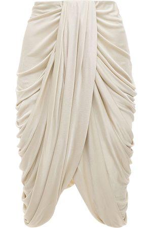 Isabel Marant Dotina Draped Jersey Midi Skirt