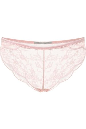 Stella McCartney Clementine Glancing Low Rise Lace Briefs