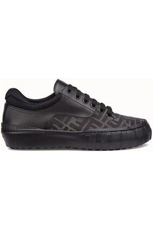 Fendi Men Sneakers - Brown Fabric Low-Tops