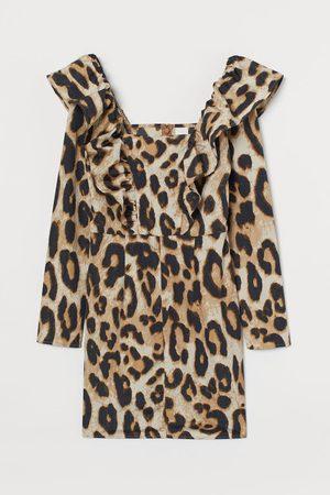 H & M Women Dresses - Flounce-trimmed Dress