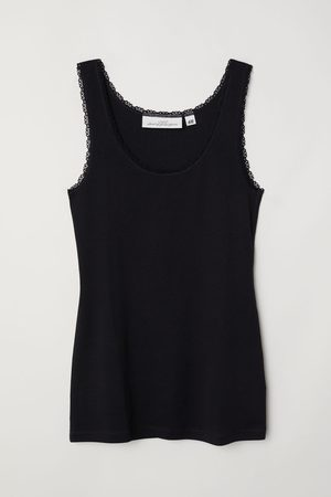 H&M Lace-trimmed Tank Top