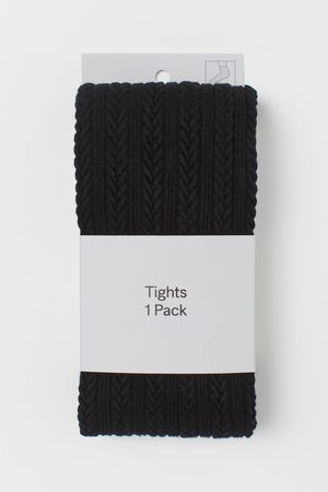 H&M Textured-knit Tights
