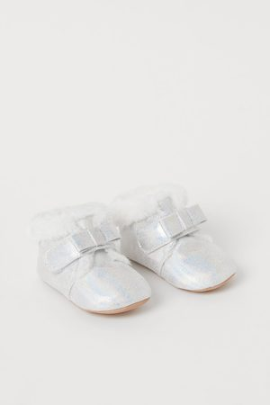 H&M Shimmery Metallic Slippers