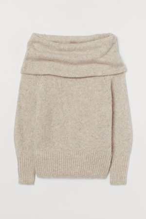 H&M Off-the-shoulder Sweater