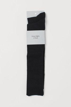 H&M 2-pack Knee Socks