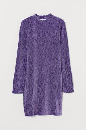 H&M Crinkled Velour Dress