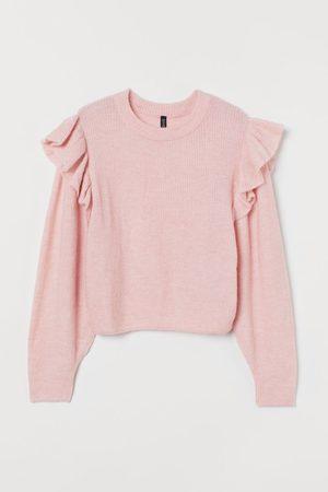 H&M Women Sweaters - Flounce-trimmed Sweater