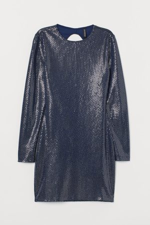 H&M Shimmery Fitted Dress