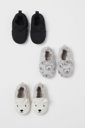 H&M 3-pack Soft Slippers
