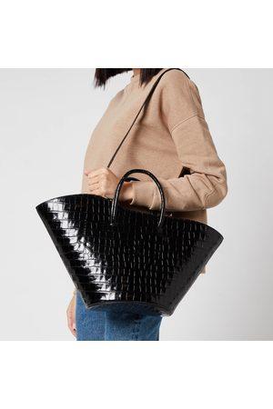 Little Liffner Women Tote Bags - Women's Open Tulip Croc Medium Tote Bag