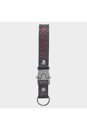 Nike Jordan Luxe Lanyard in Grey/Charcoal Leather