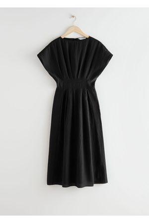 & OTHER STORIES Gathered Waistline Midi Dress