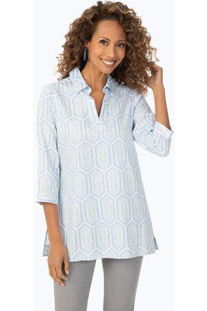 Foxcroft Women Tunics - French Tiles Non-Iron Tunic