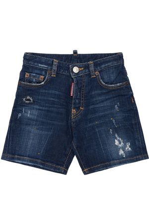Dsquared2 Destroyed Stretch Cotton Shorts