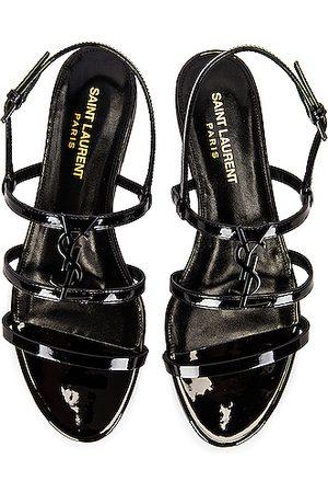 Saint Laurent Cassandra Flat Sandals in