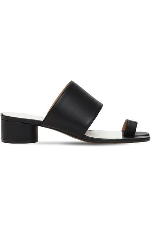 Maison Margiela 30mm Tabi Leather Thong Sandals