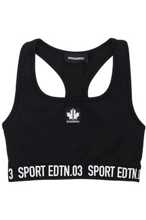 Dsquared2 Stretch Cotton Jersey Top