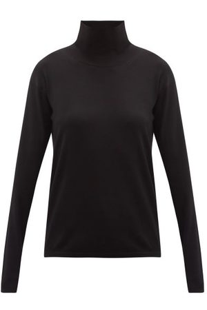 Another Tomorrow Women Turtlenecks - Roll-neck Wool-blend Sweater - Womens