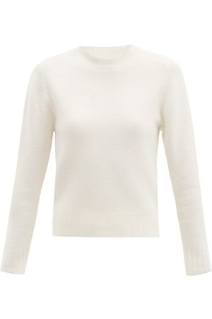 Jil Sander Cropped Boiled Wool Sweater - Womens - Ivory