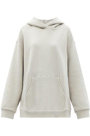 Raey Oversized Cotton-jersey Hooded Sweatshirt - Womens - Light Grey