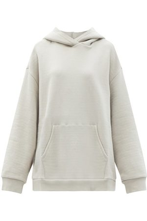 Raey Women Sweatshirts - Oversized Cotton-jersey Hooded Sweatshirt - Womens - Light Grey