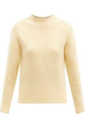 Jil Sander Cropped Boiled Merino-wool Sweater - Womens