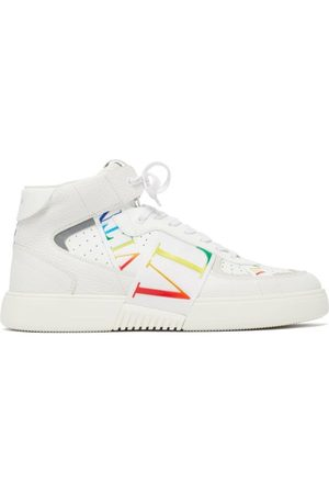 VALENTINO GARAVANI Men Sneakers - Vltn High-top Leather Trainers - Mens - Multi