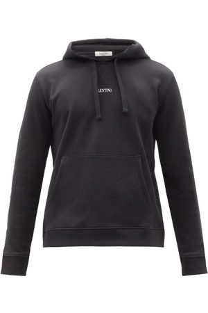 VALENTINO Men Hoodies - Logo-print Cotton-blend Hooded Sweatshirt - Mens