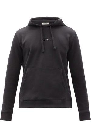 VALENTINO Men Sweatshirts - Logo-print Cotton-blend Hooded Sweatshirt - Mens