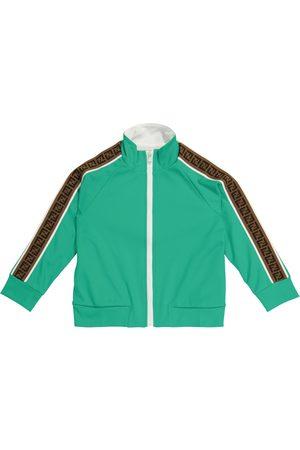 Fendi Boys Hoodies - FF technical jersey track jacket