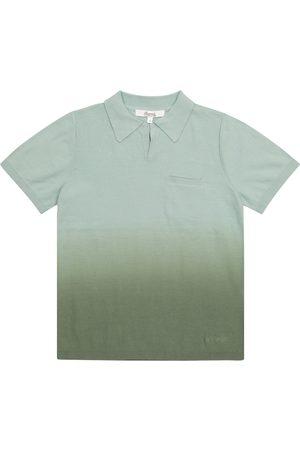 BONPOINT Dip-dyed cotton polo shirt