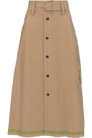 Bottega Veneta Women Midi Skirts - High-rise midi skirt