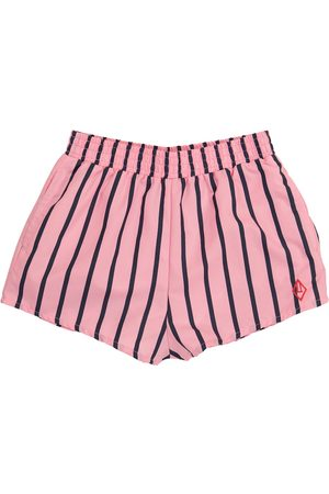 The Animals Observatory Puppy striped swim trunks