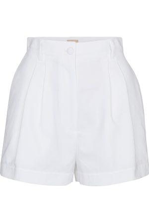 Alaïa Women Shorts - High-rise cotton shorts