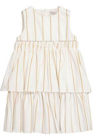 Brunello Cucinelli Striped cotton-blend dress