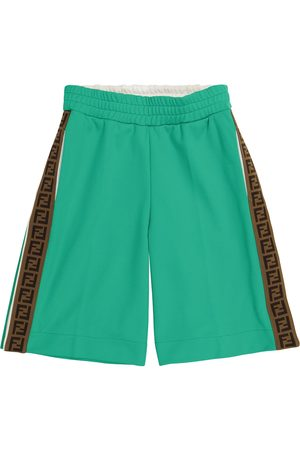 Fendi FF technical jersey shorts
