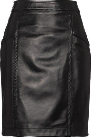 Saint Laurent High-rise leather miniskirt