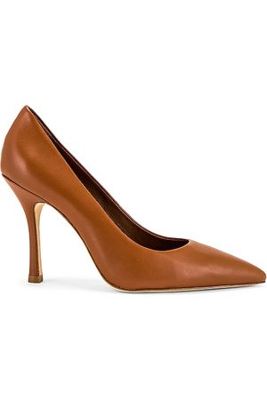 Larroude The Candy Heel in Tan.